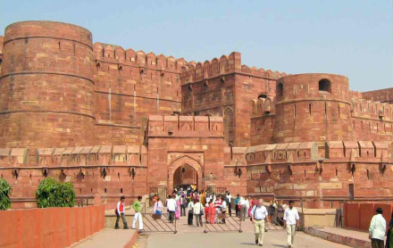 Agra fort and Jahangir Palace